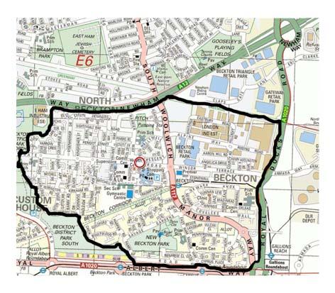 BECKTON MAP